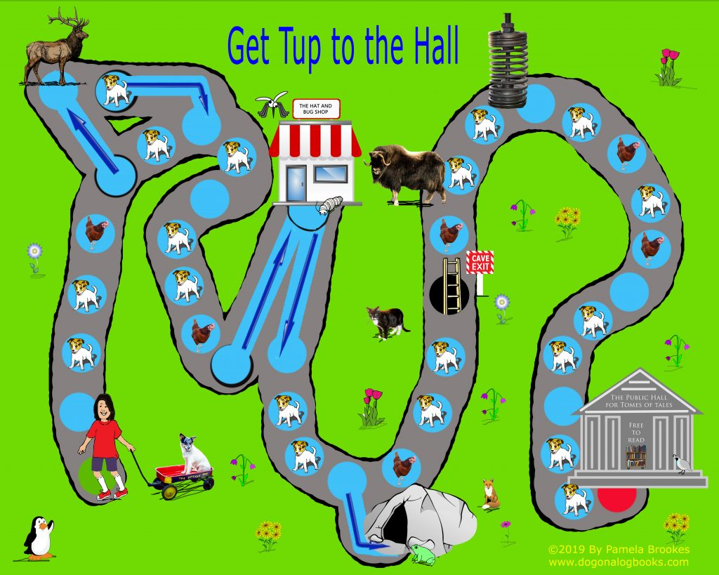 The Get Tup to the Hall Gameboard makes reading flashcards fun.